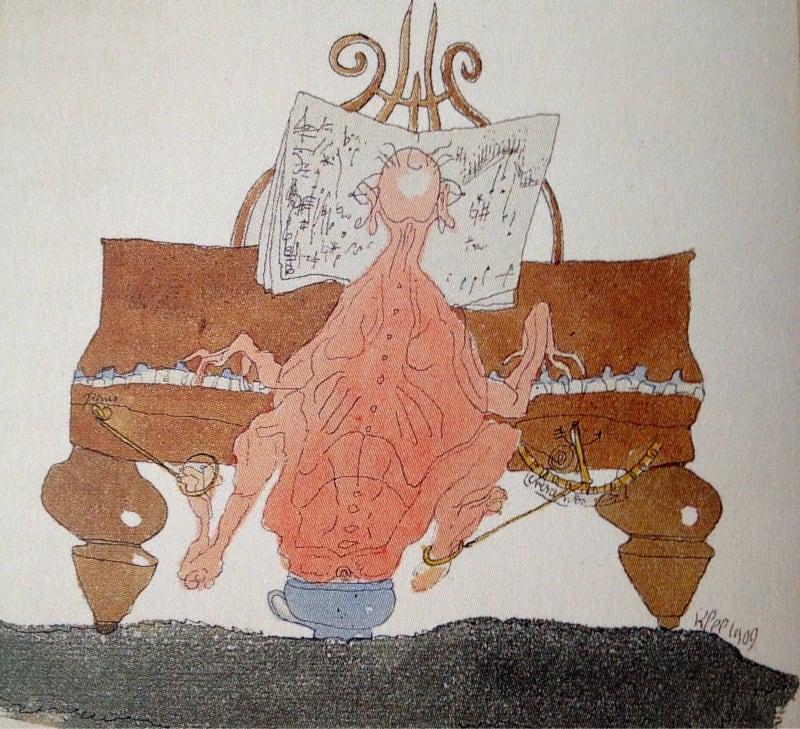 Paul Klee - Bunalmış Piyanist